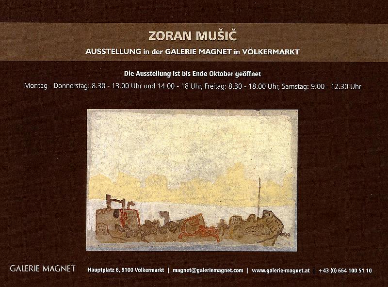Zoran Music Ausstellung in der Galerie Magnet