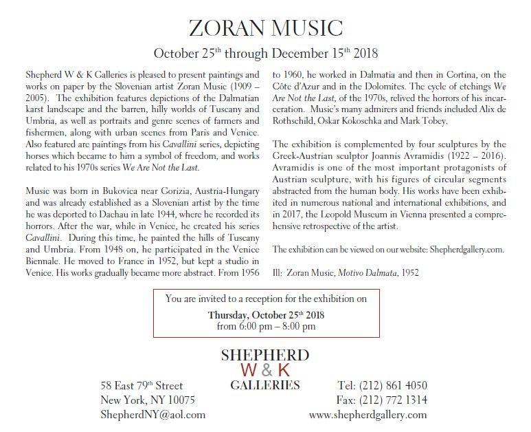 Zoran Music Galerie Shepherd