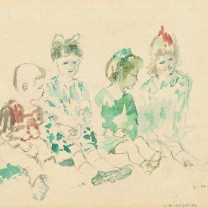Ludwig Heinrich Jungnickel, four sitting children