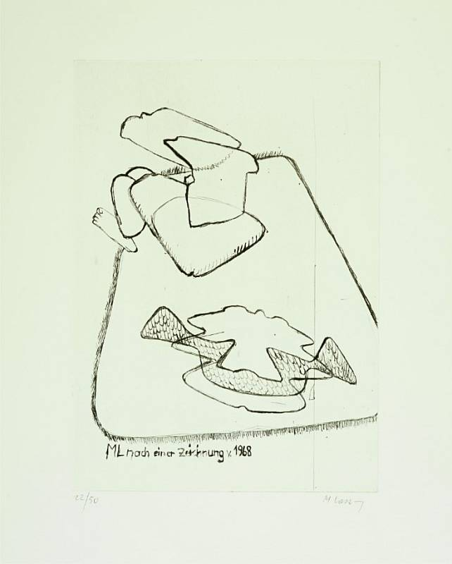 Maria Lassnig - ML after a drawing by 1968
