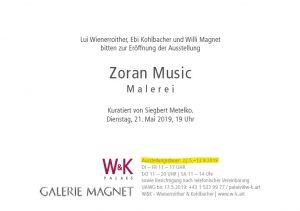 Zoran Music Ausstellung Einladung