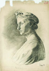 Sebastian Isepp, Weibliche Büste im Profil