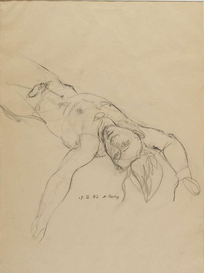 Anton Kolig, Liegender männlicher Akt II, 1947
