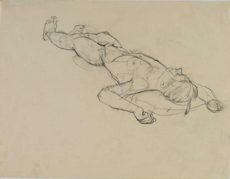 "Bleistift ; 33x42,9cm ; Lit.: ""Mann&Frau;"", Rupertinum 2001, S.81"