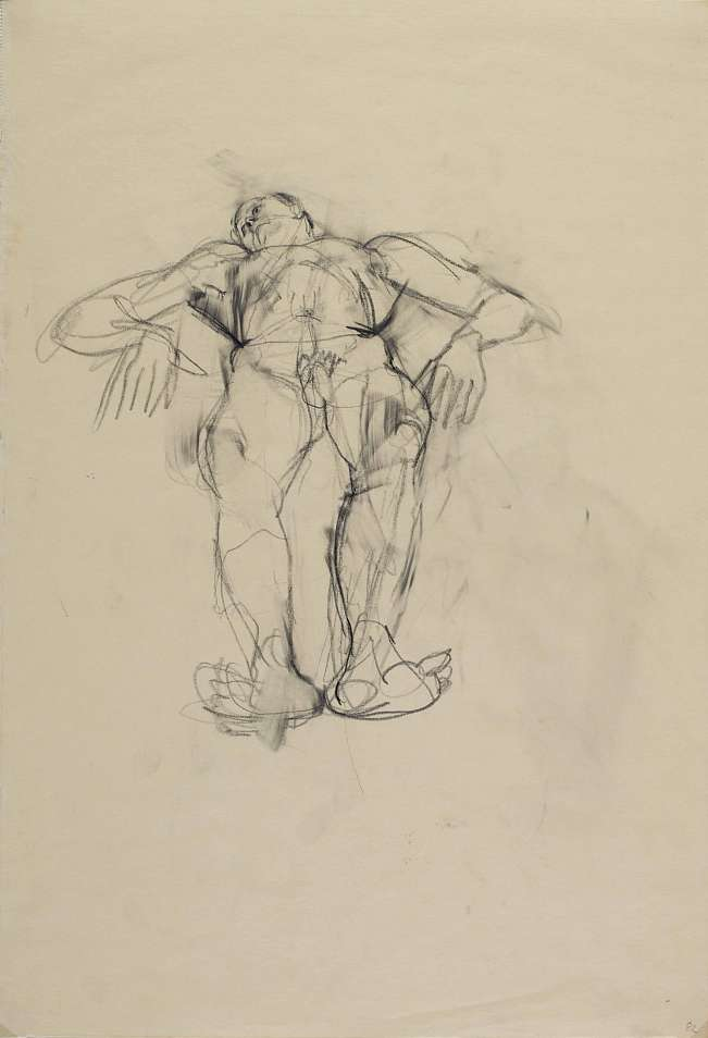 Anton Kolig, Lying Male Nude with Angled Arms