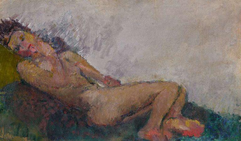 Anton Kolig, Liegender weiblicher Akt