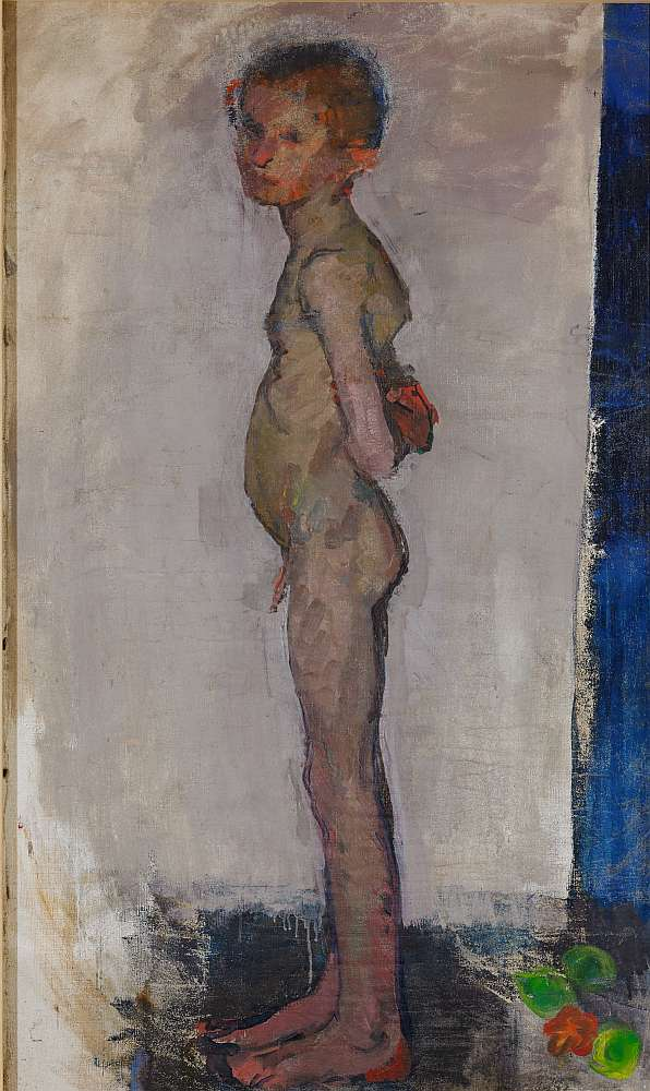 Anton Kolig, Stehender Knabenakt, um 1909 Öl auf Leinwand ; 124 x 74 cm