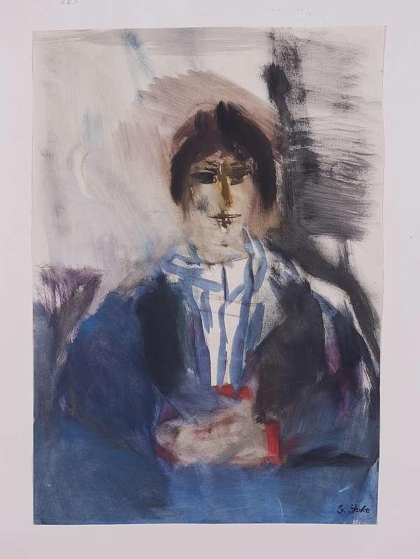 Giselbert Hoke, Frauenportrait (Grete)