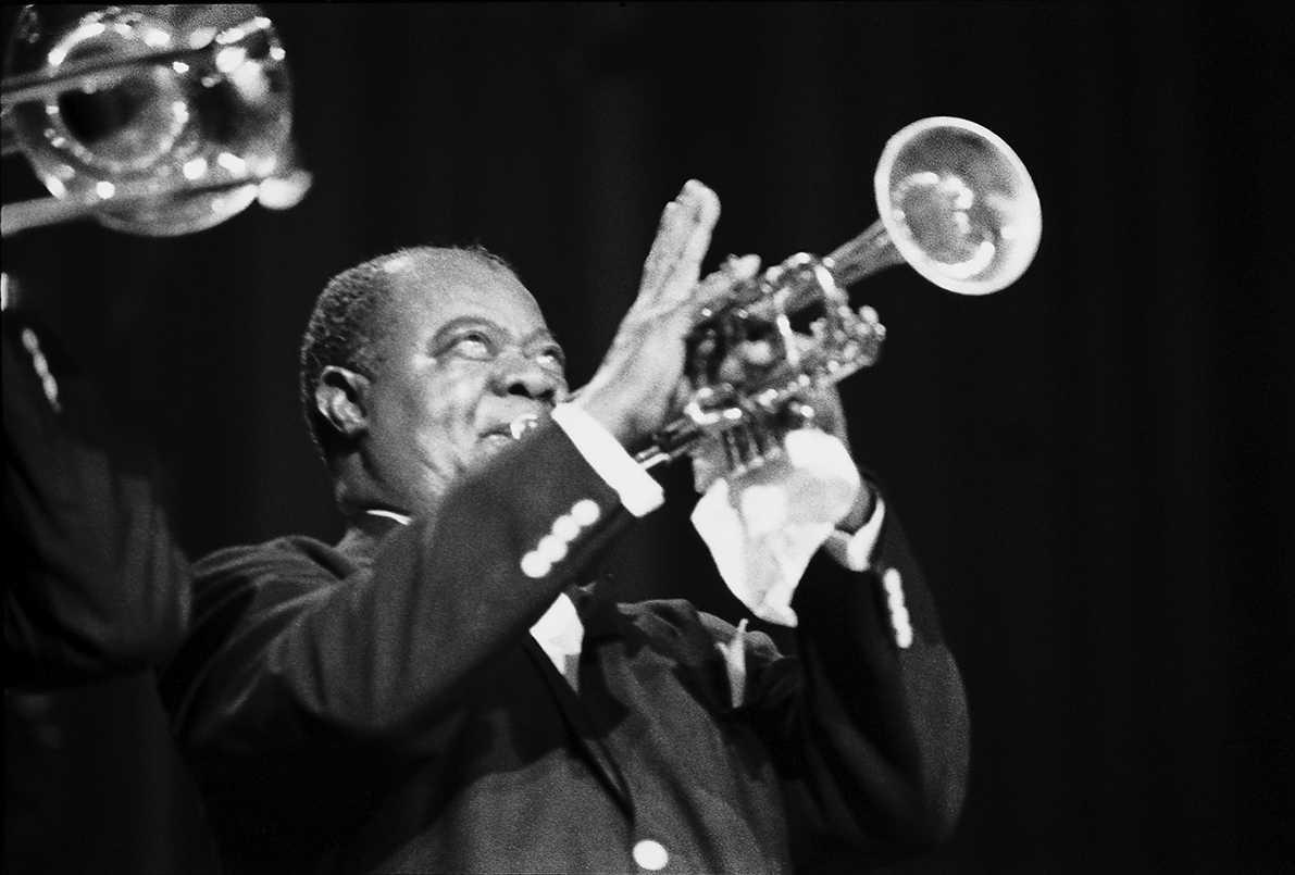 Ernst P. Prokop: Louis Armstrong, Fotografie auf Hochglanzpapier aus den 70er Jahren