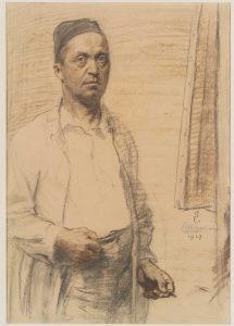 Switbert Lobisser, self-portrait