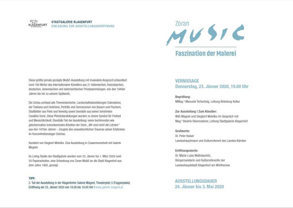 Music Ausstellung in Klagenfurt Einladung