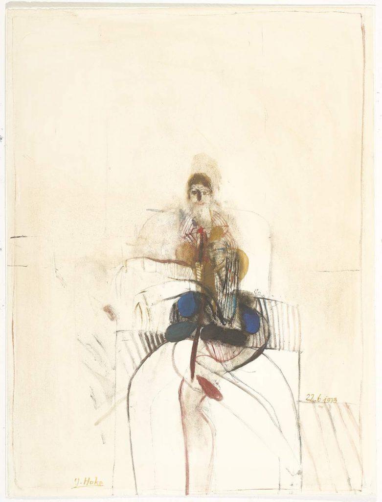 Hoke Frauenportrait 1973 Gouache jpg