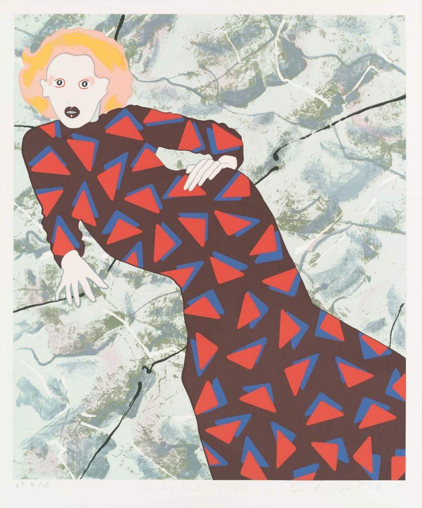 Kiki Kogelnik, Lady with Triangle, 1979