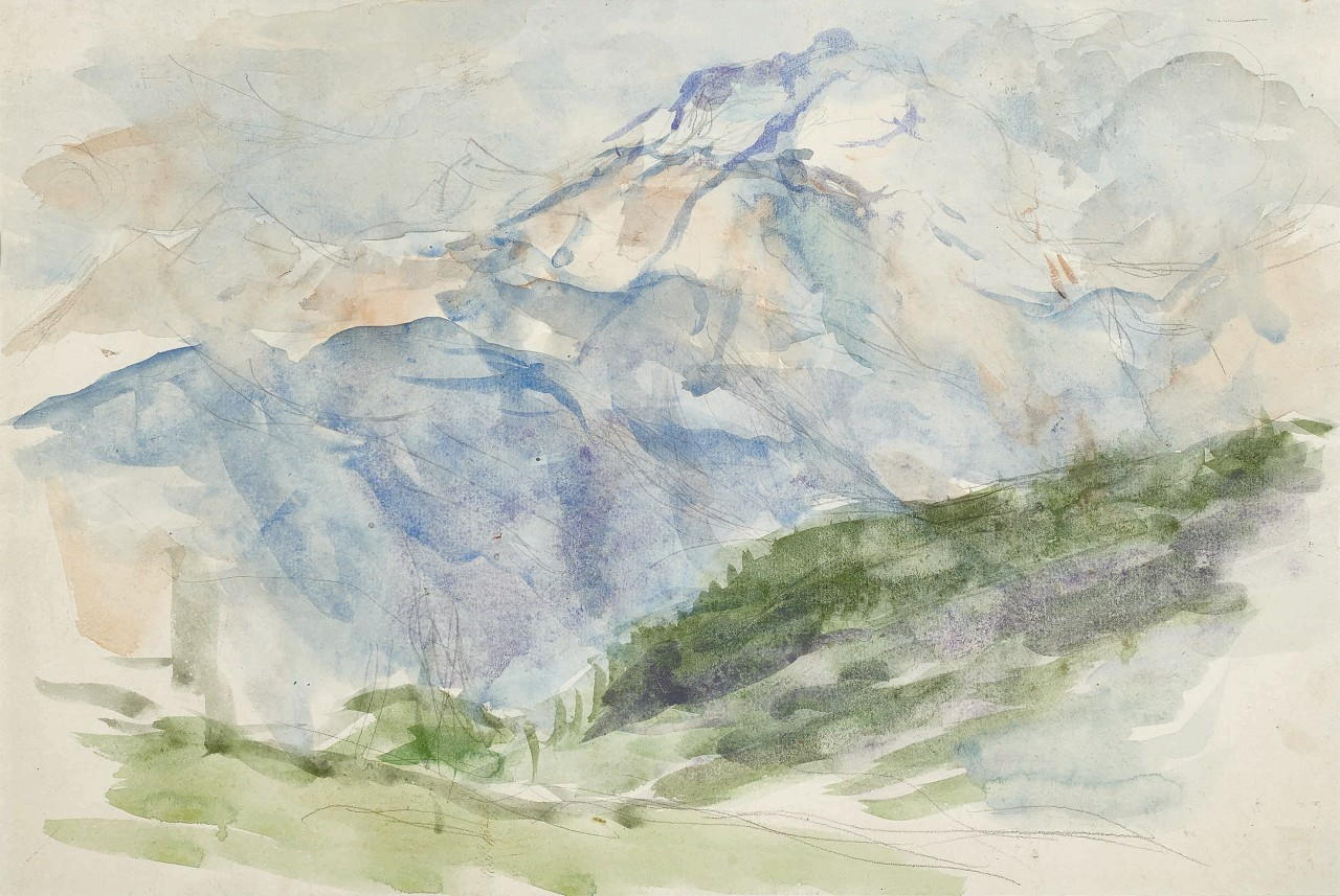 Gerhart Frankl (1901-1965), Dolomiten, 1925, Aquarell 26x39