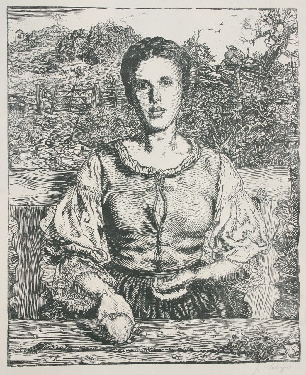 Portrait of my Ev, 1927, woodcut, 37x30cm, signed, titled and numm. op. 60