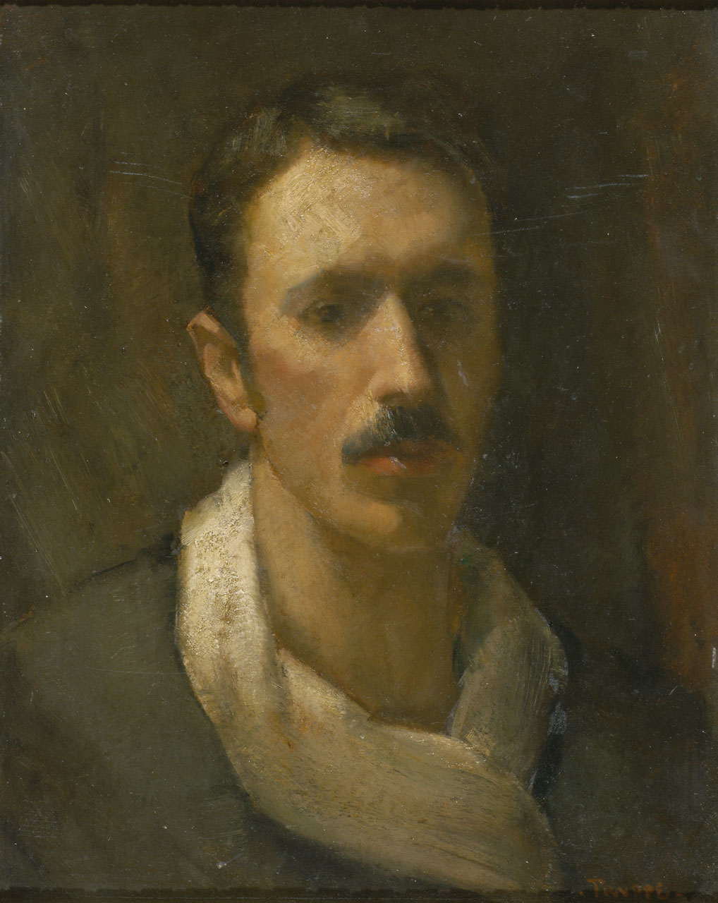 Karl Truppe (1887-1959), self-portrait, 1914, oil on cardboard, 52x40cm, signed and dated