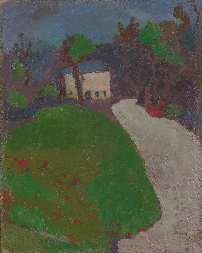 Karl Bauer, Parklandschaft, Öl auf Karton, 80 x 65 cm, signiert